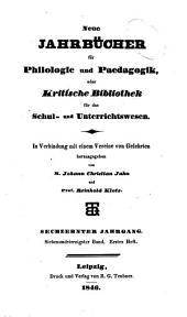 Neue Jahrbücher für Philologie und Paedagogik: Band 47