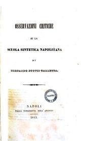 Osservazioni critiche su la scuola sintetica napoletana di Bernardo Scotti Galletta