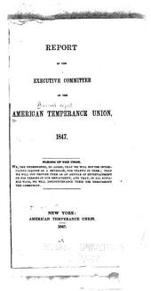 Report of the Executive Committee of the American Temperance Union