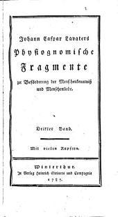 J. C. Lavaters physiognomische Fragmente zur Beförderung von Menschenkenntniss und Menschenliebe: Band 3