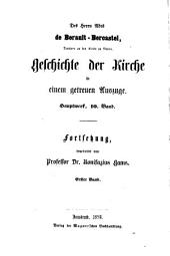 Geschichte der Kirche Christi im neunzehnten Jahrhundert, mit besonderer Rücksicht auf Deutschland: Bände 1-2