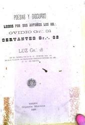 Poesías y discurso leídos por sus autores los H.H.Ovidio Gr.31, Cervantes Gr.32 y Luz Gr.18 en la tenida de la R.L.Yumurí núm.131 de los valles de Matanzas pertenecientes al Gr.O.N. de España