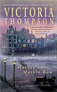 Murder on Marble Row Book