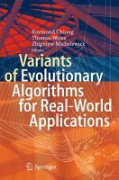 Variants of Evolutionary Algorithms for Real World Applications PDF