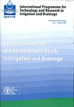Review of Research and Development Needs in Irrigation and Drainage PDF
