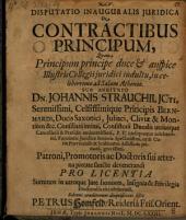 Disp. inaug. iur. de contractibus principum
