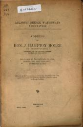 Address of Hon. J. Hampton Moore of Pennsylvania: Delivered at the Seventh Annual Convention, New York City, September 22, 1914