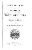 Annual Report of the Town Officers     and the Town Records PDF