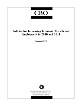 Policies for Increasing Economic Growth and Employment in 2010 and 2011 PDF