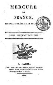 Mercure de France: Volume51
