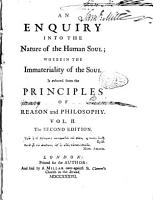 An Enquiry Into the Nature of the Human Soul PDF