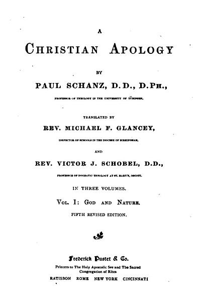 Download A Christian Apology Book