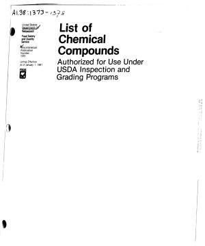 List of Chemical Compounds Authorized for Use Under USDA Meat  Poultry  Rabbit  and Egg Products Inspection Programs PDF