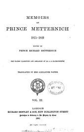 Memoirs of Prince Metternich 1773-1835: 1815-1829