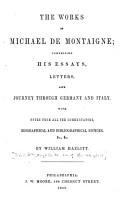 Works  Comprising His Essays  Letters  and Journey Through Germany and Italy PDF