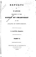 Reports of Cases Decided in the Court of Chancery of the State of New Jersey PDF