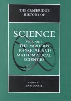 The Cambridge History of Science  Volume 5  The Modern Physical and Mathematical Sciences PDF
