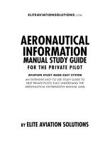 Aeronautical Information Manual Study Guide For The Private Pilot PDF