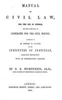 Manual of Civil Law PDF