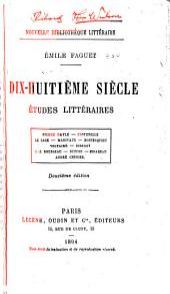 Dix-huitième siècle: études littéraires