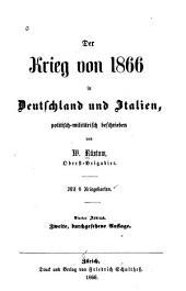 Der krieg von 1866 in Deutschland und Italien: politisch-militärische beschrieben