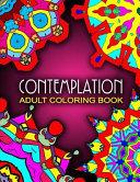 CONTEMPLATION ADULT COLORING BOOKS   Vol  3