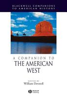 A Companion to the American West PDF