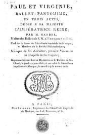 Paul et Virginie: ballet-pantomime en 3 actes ...
