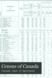 Census of Canada: Recensement Du Canada, Volumes 1-2