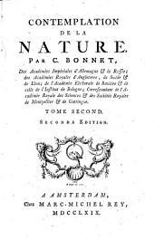 Contemplation De La Nature: Volume2