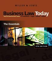 Cengage Advantage Books  Business Law Today  The Essentials PDF