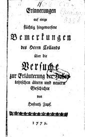 Erinnerungen auf einige flüchtig hingeworfene Bemerkungen des Herrn Collands über die Versuche zur Erläuterung der Hohenlohischen ältern und neuern Geschichte