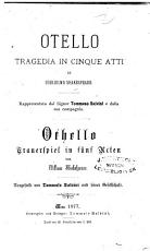 Otello  Tragedia in 5 atti  Othello  Trauerspiel in 5 Acten   etc   PDF