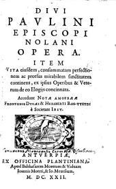 Opera: Item Vita eiusd