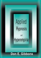 Applied Hypnosis and Hyperempiria PDF