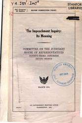 The Impeachment Inquiry PDF