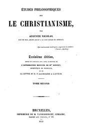 Etudes philosophiques sur le Christianisme: Volume 2
