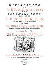 Uitbreiding en verklaring van Salomons boek, genoemd de Spreuken