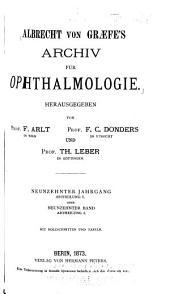 Archiv für klinische und experimentelle Ophthalmologie: Band 19