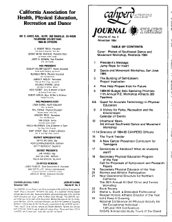 CAHPERD Journal Times PDF