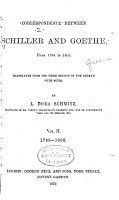 Correspondence Between Schiller and Goethe  from 1794 to 1805 PDF