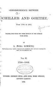 Correspondence Between Schiller and Goethe, from 1794 to 1805: Volume 2