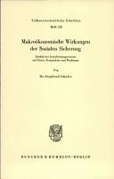 Makro  konomische Wirkungen der Sozialen Sicherung PDF