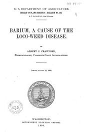 Barium: A Cause of the Loco-weed Disease
