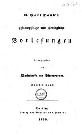 Philosophische und Theologische Vorlesungen: Prolegom. zur theolog. Moral und Princ. der Ethik