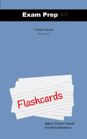 Exam Prep Flash Cards for 8 Little Planets