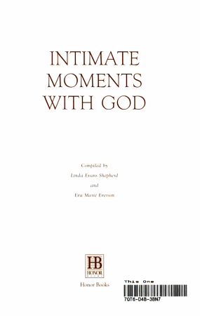 Intimate Moments with God PDF