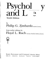 Psychology and Life PDF