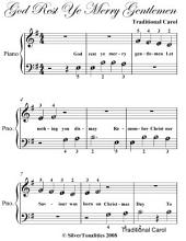 God Rest Ye Merry Gentlemen Beginner Piano Sheet Music