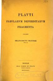 Plauti Fabularum deperditarum fragmenta